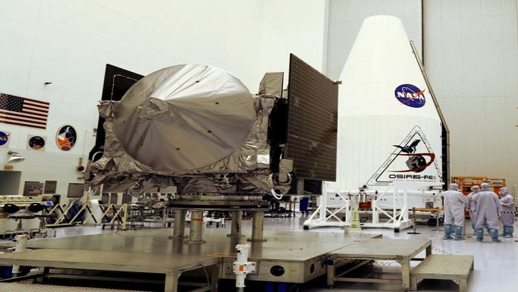NASA's OSIRIS-REx on display.