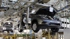 Nissan car in plant.