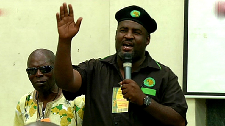 PAC newly elected president Mzwanele Nyhontsho