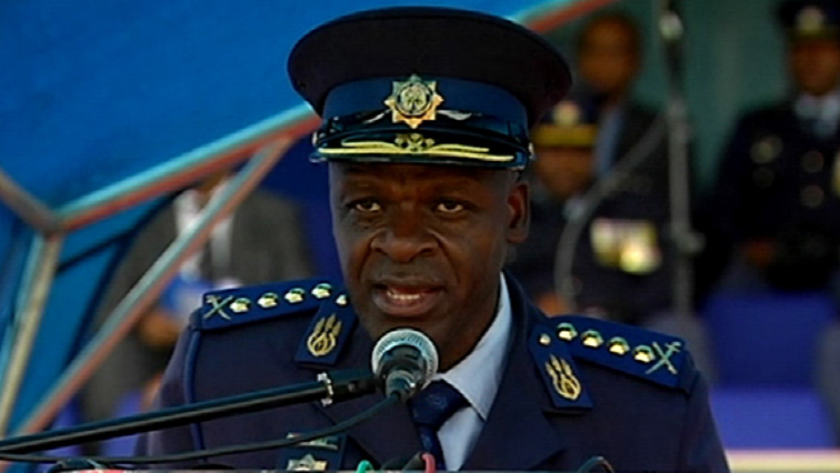 General Khehla Sitole speaks at graduation ceremony.