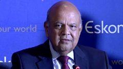 Pravin Gordhan at media briefing about Eskom