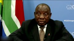 President Cyril Ramaphosa at the G20