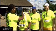 Runners wearing running t-shirts