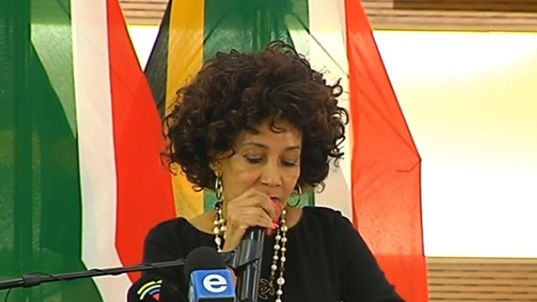 Lindiwe Sisulu speaking