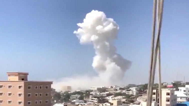 Smoke rises from car bombing in Mogadishu