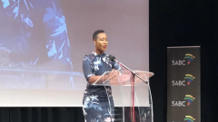 Communications Minister Stella Ndabeni-Abrahams