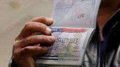 Visa in a passport