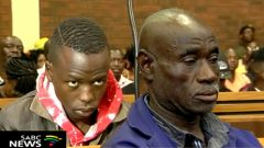 Ernest Mabaso and Fita Khupe in court