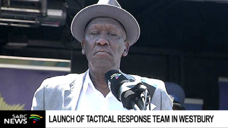 Police Minister Bheki Cele deployment of Tactical Response Team.