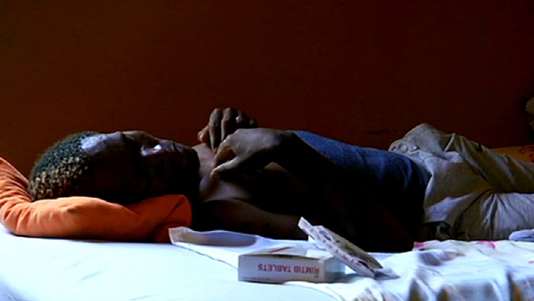Obed Moltlhale lying down