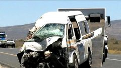 A mini bus taxi involved in a crash