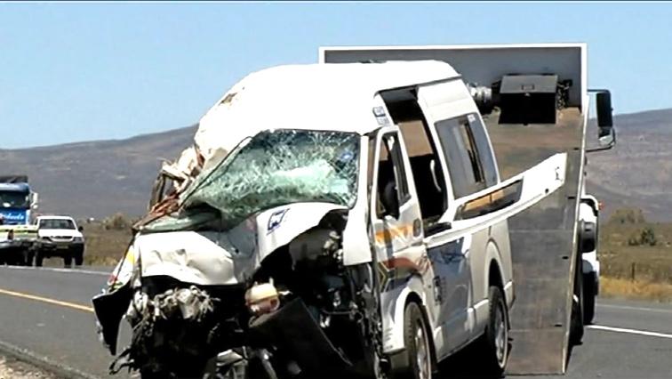 A mini bus taxi involved in a crash