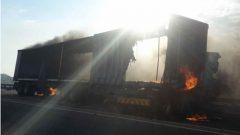 File Image of a burning truck