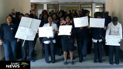 Nurses protests.