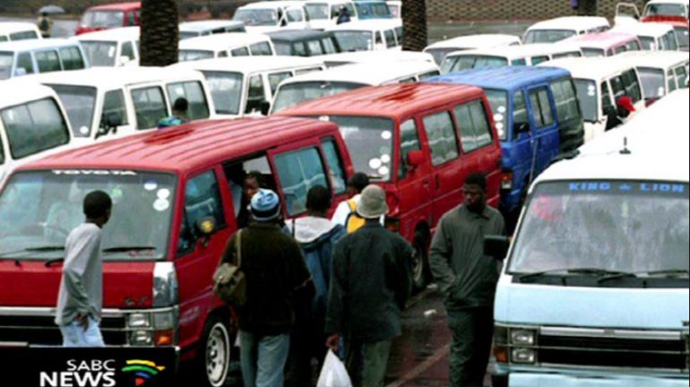 A taxi rank filled with taxis