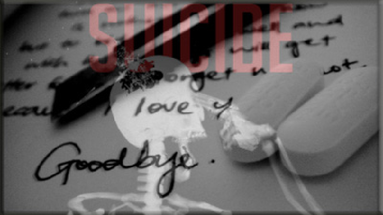 suicide note and pills