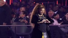 FILE PHOTO: Singer Janet Jackson makes a heart symbol after receiving the Global Icon award at the 2018 MTV Europe Music Awards at Bilbao Exhibition Centre in Bilbao
