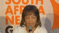 Patricia De Lille addressing the media.