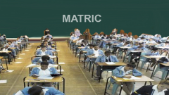 Learners writing matric exam