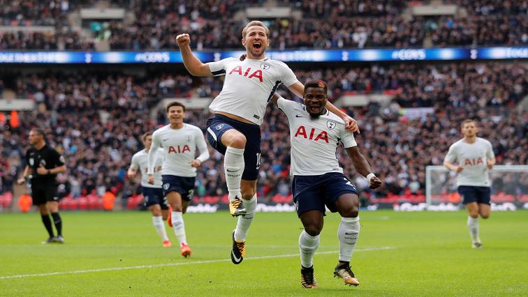 Tottenham Spurs celebrate