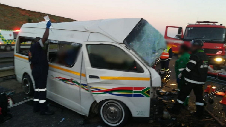 A taxi involved in a crash