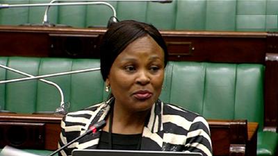 Busisiwe Mkhwebane in Parliament