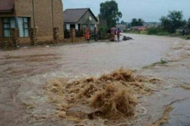 A street flooding