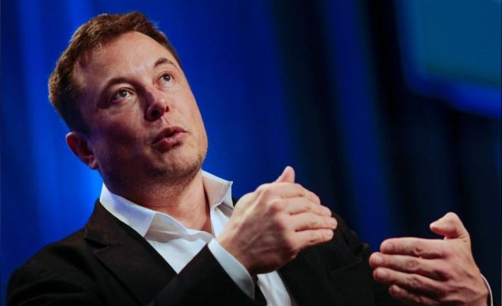 "Tesla and SpaceX CEO Elon Musk speaks in a ""fireside chat"" at the National League of Cities (NLC) 2018 City Summit in Los Angeles."