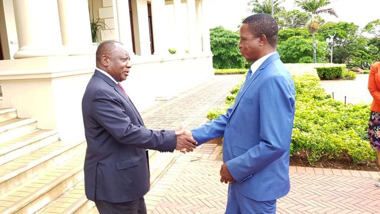 Cyril Ramaphosa and Edgar Lungu