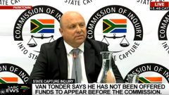Former Bosasa CFO Andries Van Tonder giving testimony to the Zondo Commission of inquiry into State Capture