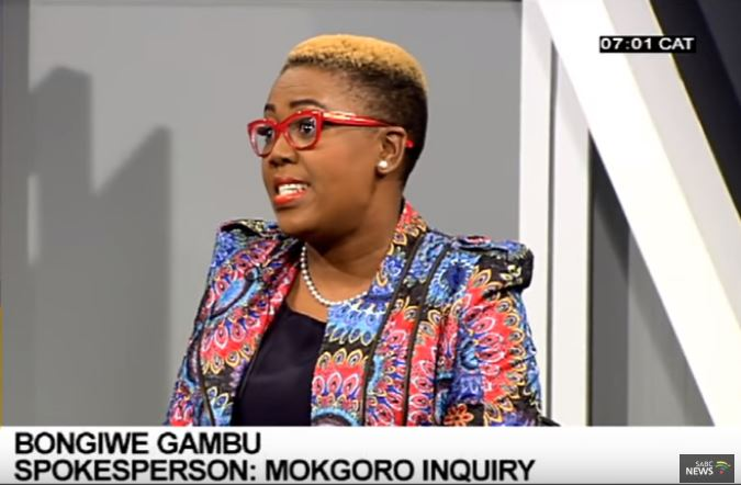 Mokgoro Inquiry spokesperson during an interview on Morning Live.