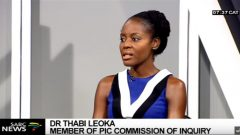 Economist Dr Thabie Leoka during an interview on Morning Live.