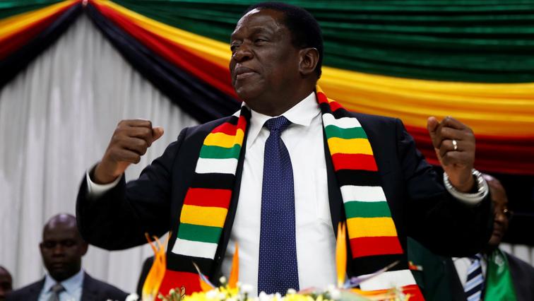 Zimbabwe President Emmerson Mnangagwa