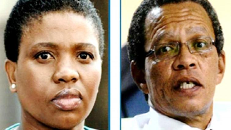 Advocate Nomgcobo Jiba and colleague Advocate Lawrence Mrwebi.