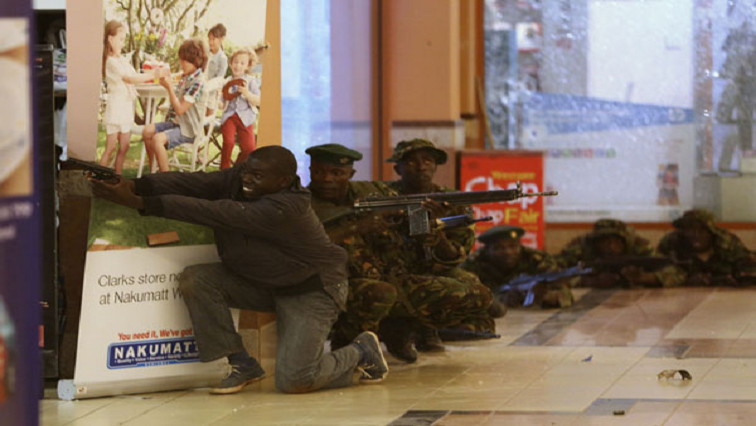 Armed men at the Kenya Westgate mall terror attack