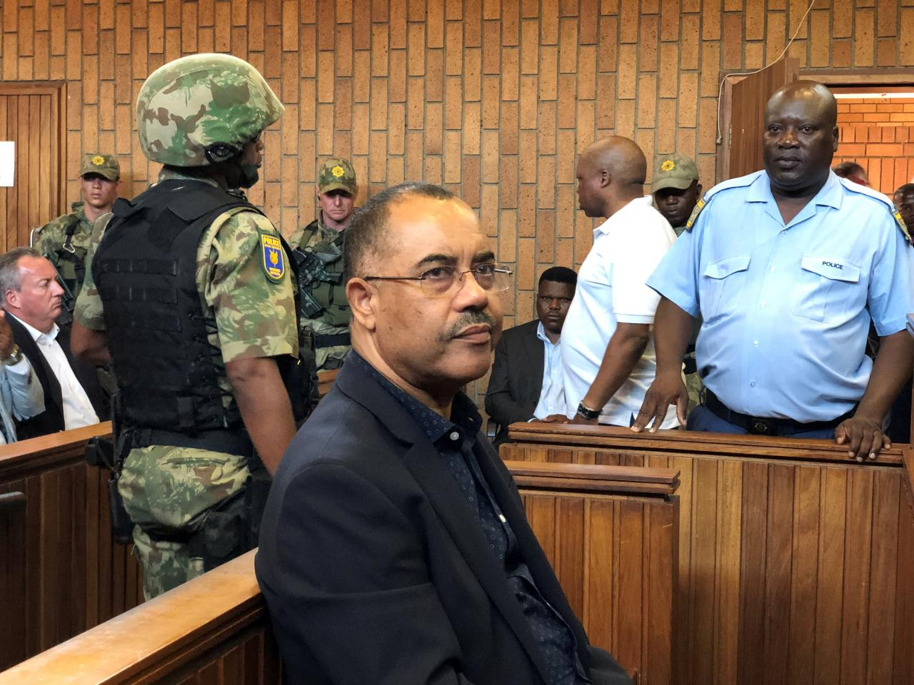 FILE PHOTO: Mozambique's former finance minister Manuel Chang appears in court during an extradition hearing in Johannesburg