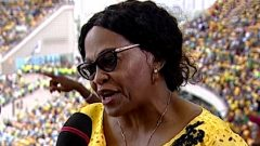 ANC NEC member Nomvula Mokonyane at Moses Mabhida during the Manifesto launch.