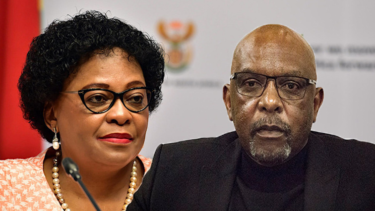 Nomvula Mokonyane and Vincent Smith