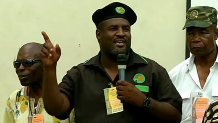 Newly elected President, Mzwanele Nyontso