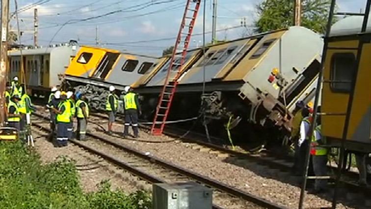 Train collision in Pretoria.