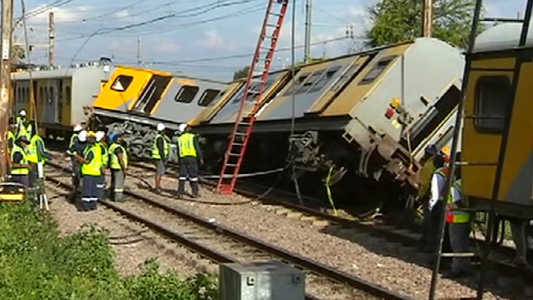 Train crash scene