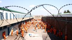 Prison inmates during the day