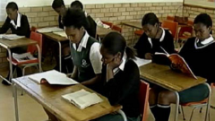 School learners reading in class