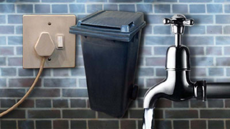 A tap, bin and wall socket plug