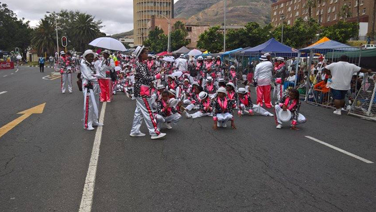 Troupes dancing at the street parade