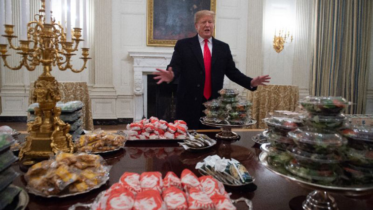 Trump with the fast foods