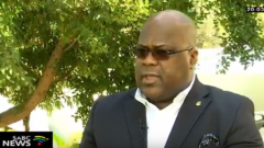 winner of the contentious December presidential election Felix Tshisekedi.