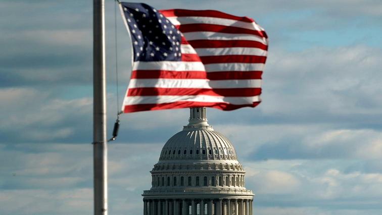 US flag near the US Capitol