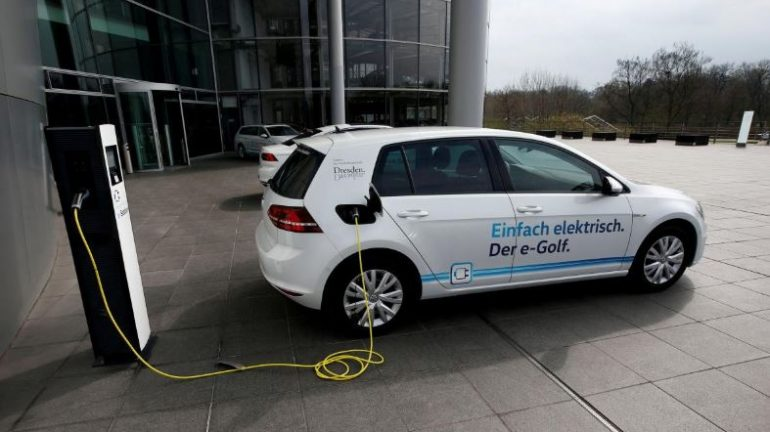 Electric powered VW vehicle