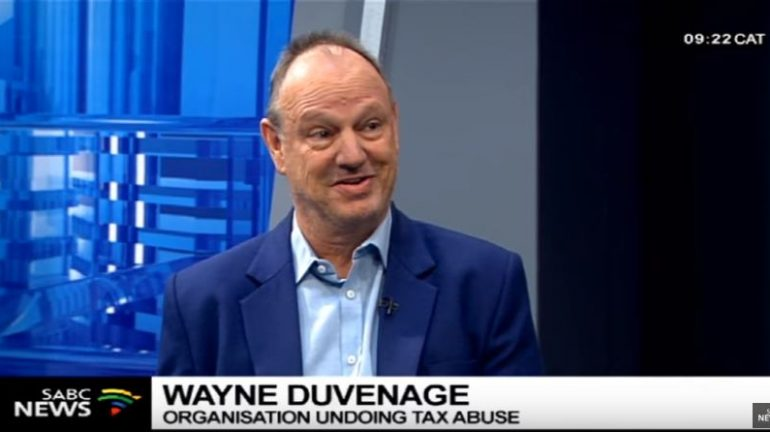 Outa Chairperson Wayne Duvenage during an interview on Morning Live